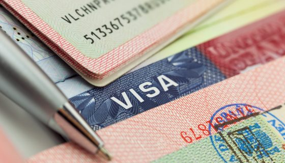 visa and pen close up related to a trusted visa attorney chicago