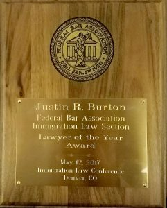 Chicago immigration attorney Justin Burton.