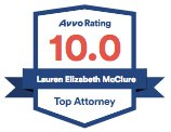 AVVO Top Attorney badge for Lauren McClure Chicago immigration attorney.