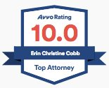 AVVO Top Rated Chicago Immigration Attorney Erin Cobb badge.