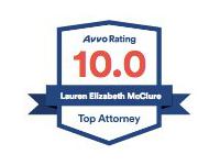 AVVO Top Attorney badge for Lauren McClure Chicago immigration attorney.