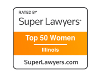 Top 50 Women lawyers badge for professional immigration lawyer in Chicago Loop.